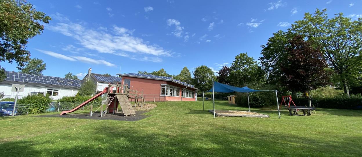 Außenansicht der Kindertagesstätte Neye Spatzen