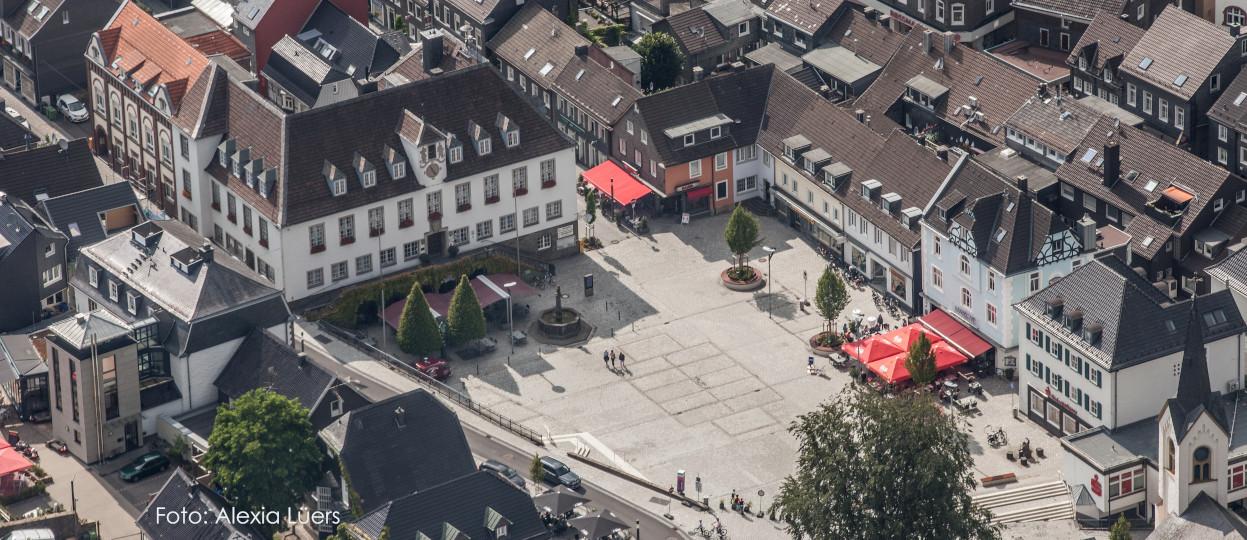 Luftaufnahme des Wipperfürther Stadtkerns