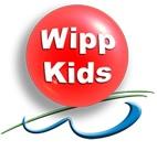 rote Kugel mit der Aufschrift WippKids